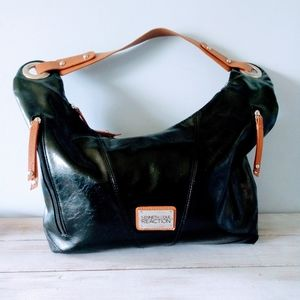 Kenneth Cole Reaction Black Brown Purse